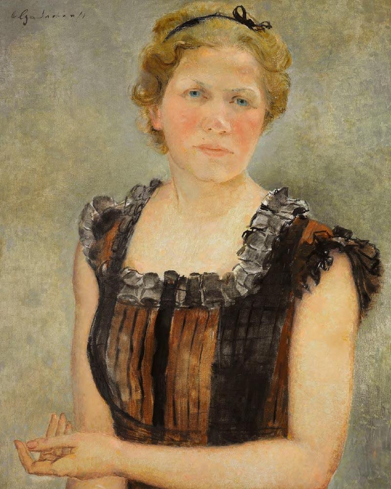 OLGA SACHAROFF. Self-portrait. 1932