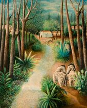 OLGA SACHAROFF. Landscape with Zebras