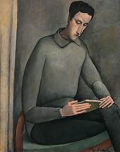 OLGA SACHAROFF. Portrait of Otho Lloyd (Portrait of a Young Man with a Book). About 1917
