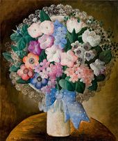 OLGA SACHAROFF. Bouquet with a Blue Bow. About 1929