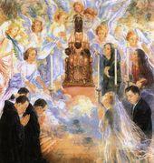 OLGA SACHAROFF. Adoration of Our Lady of Montserrat. 1947