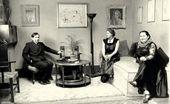 Chaïm Soutine, Olga Sacharoff and Chana Orloff. Paris. 1938