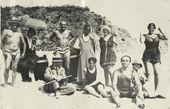 On the beach in Tossa de Mar in 1916