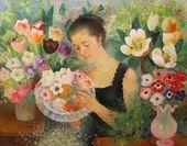 OLGA SACHAROFF. Flower Girl. 1958