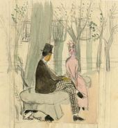 OLGA SACHAROFF. Drawing.