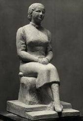 CHANA ORLOFF. Sculptural Portrait of Olga Sacharoff. 1931