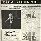 (Permanyer, L. Luís Permanyer presenta a: Olga Sacharoff a través del cuestionario «Marcel Proust» // Destino. 1964. num. 1405. P. 30)