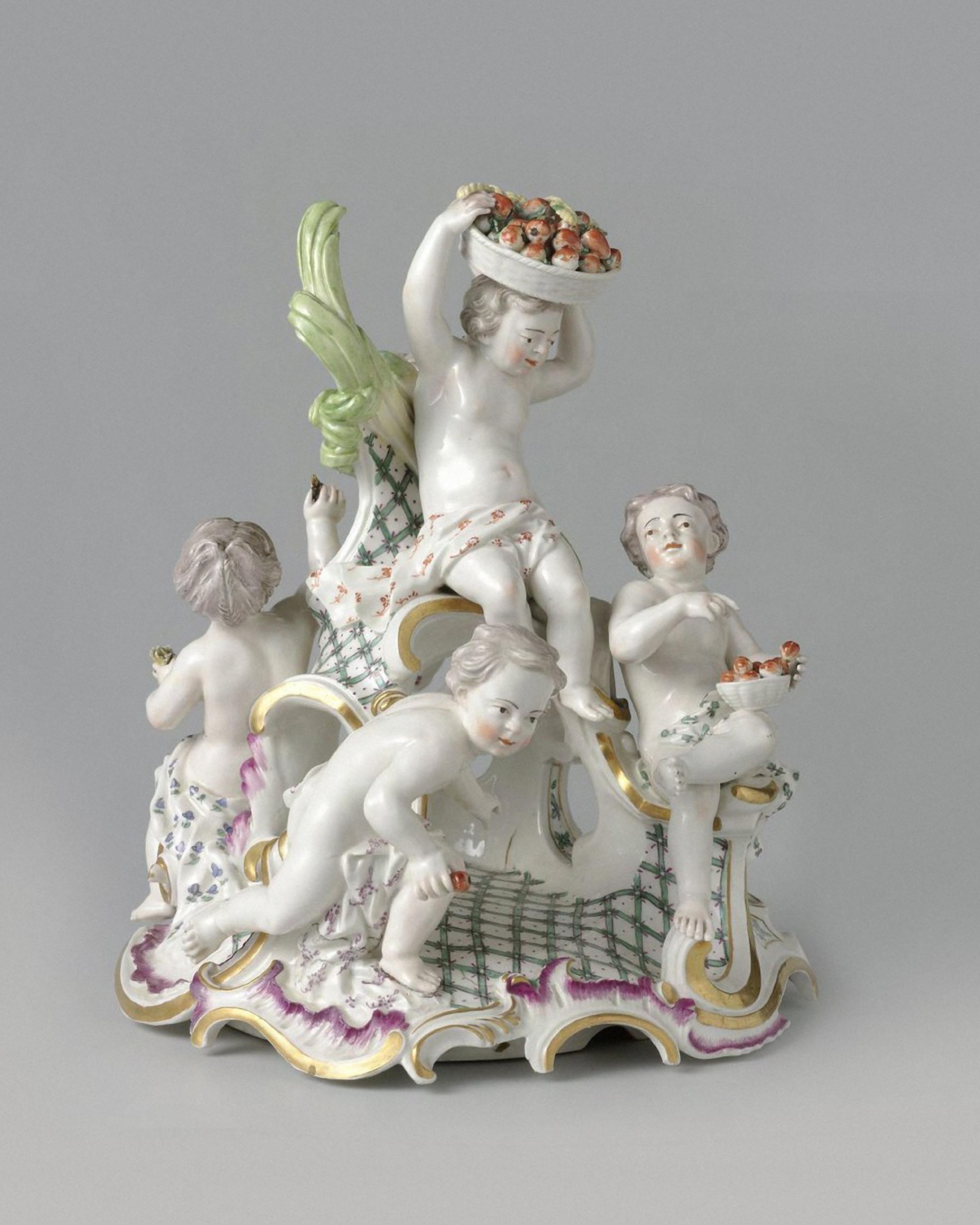 """Spring"" sculptural group. Germany, Frankenthal. 18th century"