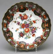 Plates painted in the style of Imari ware. Germany, Meissen Porcelain Manufactory. About 1735