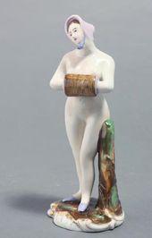 """""""Nude with Muff"""" sculpture. Russia, Gardner Factory. Mid 19th century"""