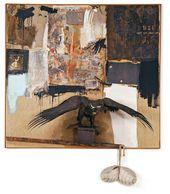 ROBERT RAUSCHENBERG. Canyon. 1959. Combine painting