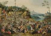 PIETER BRUEGHEL THE YOUNGER. The Dance Around The Maypole