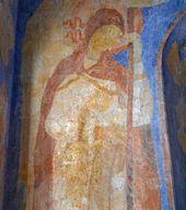 Ангел. Фрагмент росписи восточной стены часовни Св. Анастасии. Фото: С.В. Колузаков. 2013
