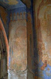 Святой. Фрагмент росписи северной стены часовни Св. Анастасии. Фото: С.В. Колузаков. 2013