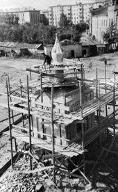 Вид на часовню Св. Анастасии во время реставрационных работ. Сентябрь 1971