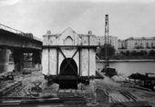 Перенос часовни Св. Анастасии на берег реки Великой. 1970