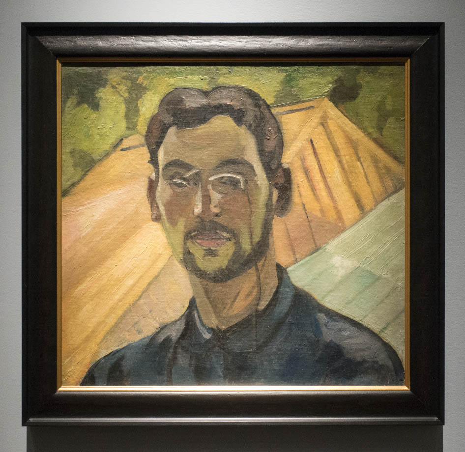 The exhibition ROBERT FALK at the New Tretyakov - Self-portrait with roofs at the background. 1909