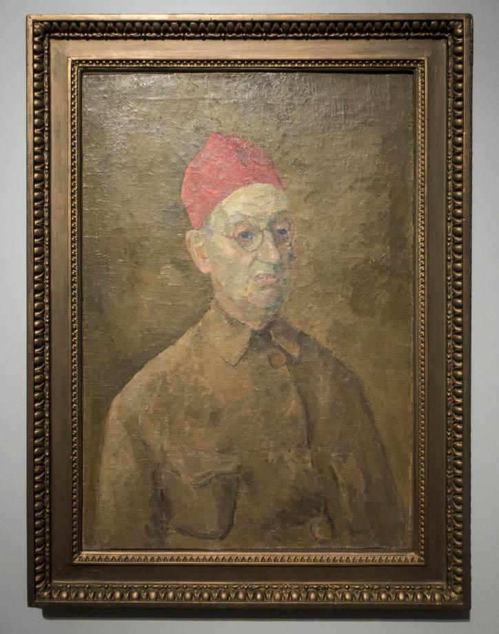 The exhibition ROBERT FALK at the New Tretyakov - Автопортрет в красной феске. 1957