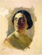 Голова римлянки. 1857. Этюд к неосуществленной картине «Смерть Виргинии»