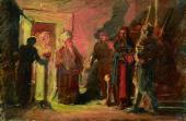 Христос перед Анной. 1868. Эскиз