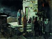 Выход Христа с учениками с Тайной вечери в Гефсиманский сад. 1888