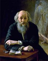 H.A. ЯРОШЕНКО. Портрет H.H. Ге. 1890