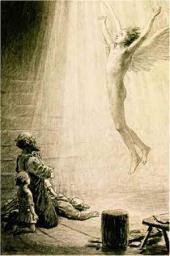 «И распустились у ангела за спиной крылья, и поднялся он на небо». 1886