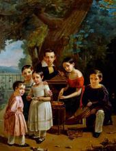 Портрет детей У Ермоловых. 1839