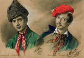 М.И. СКОТТИ. Армянин Нерсесов и чеченец Захаров. 1836