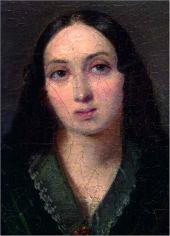 Портрет неизвестной дамы с детьми. 1840 Портрет матери. Деталь