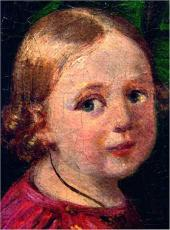 Портрет неизвестной дамы с детьми. 1840. Портрет сына. Деталь