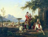 Сильвестр ЩЕДРИН. Семья итальянского пастуха. Ок. 1822