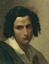 Василий ШТЕРНБЕРГ. Голова молодого итальянца. Первая половина 1840-х