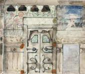 Стена с дверью Эскиз интерьера столовой для загородного дома М.Ф. Якунчиковой в