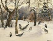 Пейзаж с воронами. 1880-е