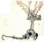 Птица-змей. Орнамент для резьбы по дереву. Эскиз-вариант. 1897