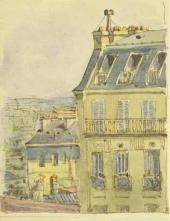 Рисунок Е.Д. Поленовой в письме матери, М.А.Поленовой, из Парижа. 4/16 мая 1895.