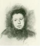 Е.Д.Поленова. Рисунок И.С. Остроухова. 1884