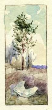 Рисунок М.В. Якунчиковой в письме к сестре, Н.В.Поленовой, из Москвы. 11 апреля
