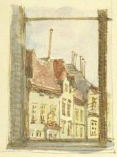 Рисунок Е.Д. Поленовой в письме матери, М.А.Поленовой, из Вены. 10/22 апреля 189