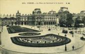 Париж. Площадь Карусель и Лувр. Почтовая открытка. Конец 1890-х – начало 1900-х