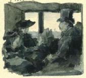 Рисунок М.В. Якунчиковой в письме к сестре, Н.В.Поленовой, из Парижа. 4 апреля 1