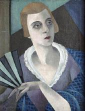 Александра БЕЛЬЦОВА. Настя. Девушка с веером. 1920