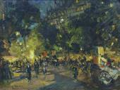 Константин КОРОВИН Париж. Бульвар Капуцинок. 1902
