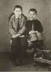 Братья Сергей и Константин (справа) Коровины в детстве. Фотография