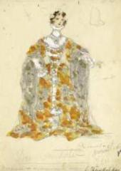 Г.Л. ТЕЛЯКОВСКАЯ. Эскиз женского костюма к балету «Дон Кихот» Л. Минкуса. 1901