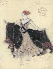 В.В. ДЬЯЧКОВ. Эскиз женского костюма к балету «Корсар» А. Адана Медора. 1912