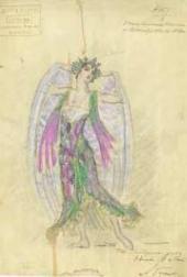 В.В. ДЬЯЧКОВ. Эскиз костюма к балету «Лебединое озеро» П.И. Чайковского. 1919