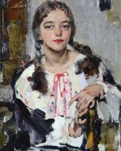 Ия в крестьянской рубахе. 1933