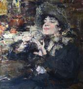 Дама за маникюром. Портрет мадемуазель Жирмонд. 1927